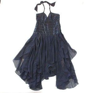 BCBG Max Azria Womens 12 Dress Satin Striped Halte